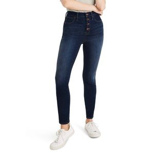 Madewell 10 Inch High Rise Skinny Button Front